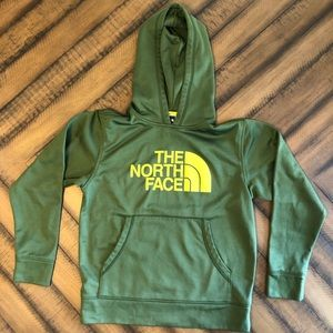 Boys The North Face Green Hoodie Size MD 10/12